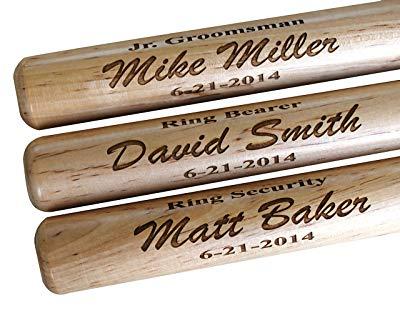 Jr. Groomsman gift Personalized Mini Baseball Bat