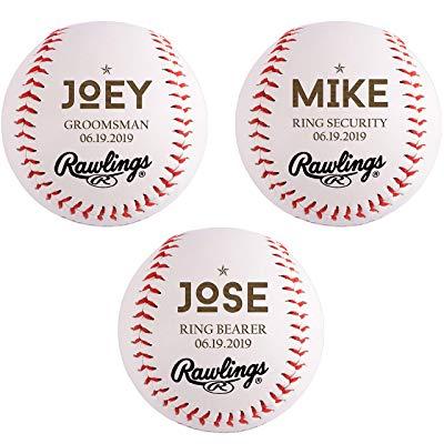 Jr. groomsman gift Personalized Baseball Ball