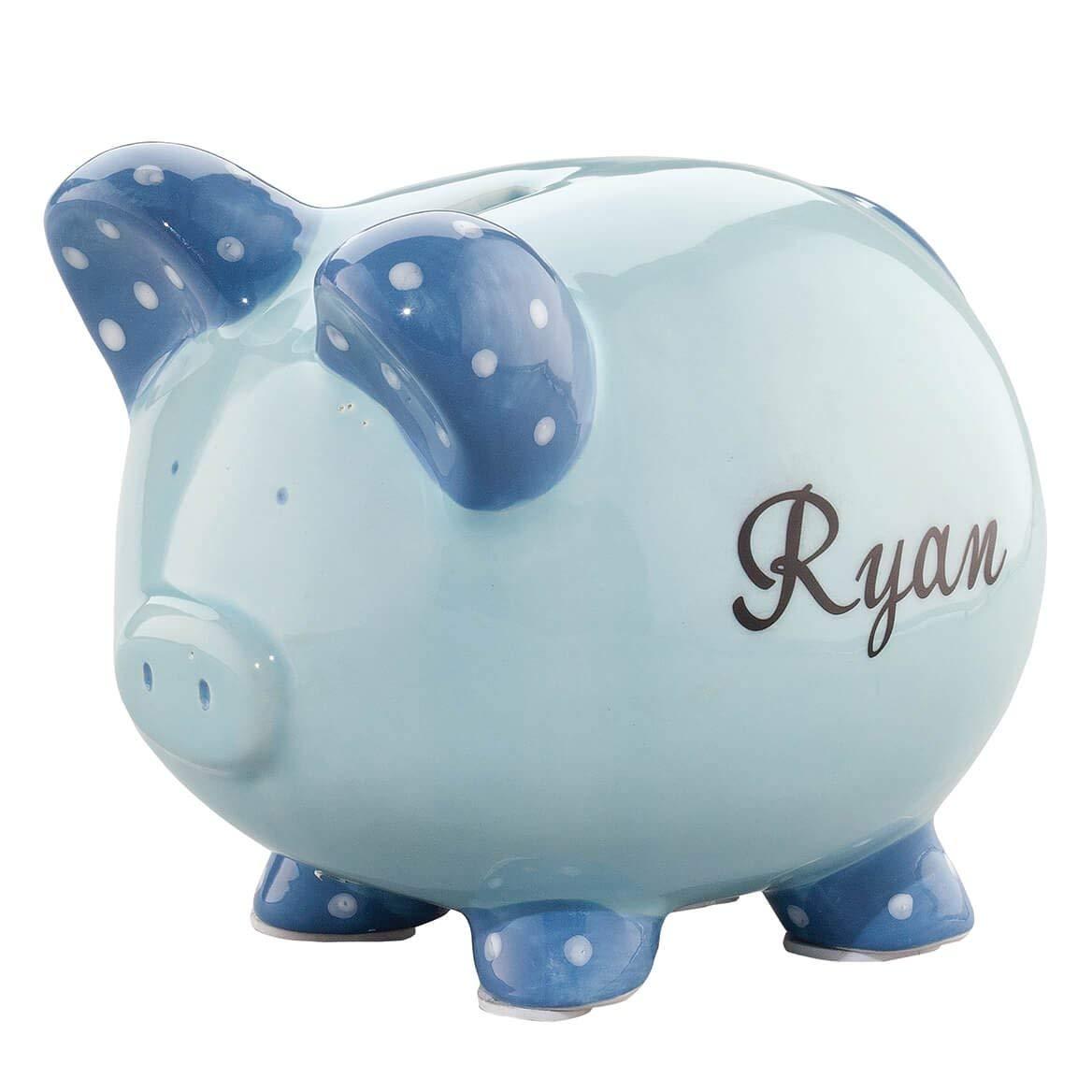 Junior groomsmen gifts Personalized Ceramic Kids Piggy Bank