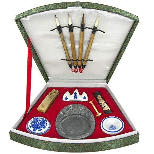 Japanese gift ideas Oriental Furniture Fan Calligraphy Set