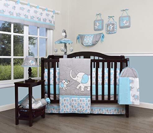 Baby Bedding Elephant Crib Set