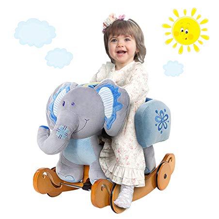 Blue Elephant Rocker