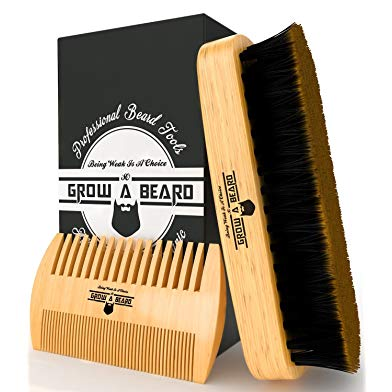 Gift idea for wedding ceremony reader - Beard Brush & Comb Set