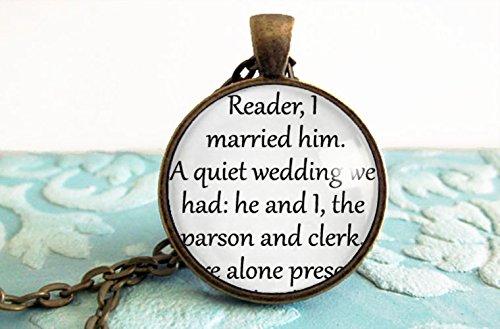Reader at wedding gift idea - ANTIQUE BRONZE OR SILVER NECKLACE