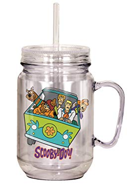 """Scooby Doo gifts Spoontiques""""Scooby Doo Group"""" Mason Jar"""