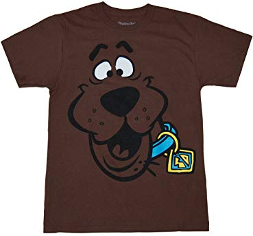 Gift ideas Scooby Doo Face Adult T-Shirt