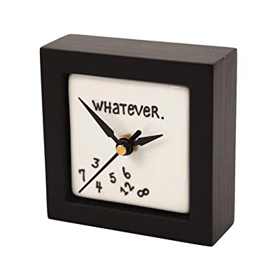 "Teacher retirement gifts ""Whatever"" Clock"