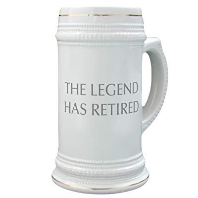 Teacher retirement gifts Beer Mug LEGEND HAS RETIRED
