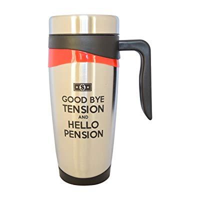 Teacher retirement gifts Good Bye Tension, Hello Pension Travel Tumbler Mug