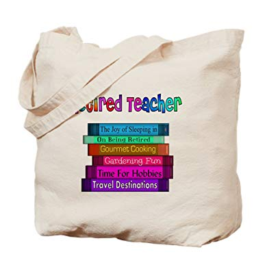 Teacher retirement gifts Natural Canvas Tote Bag