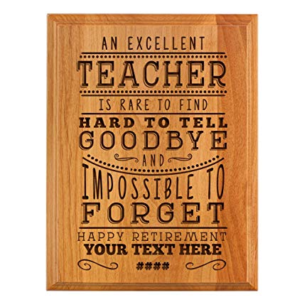 Teacher retirement gifts Personalized Retirement Plaque
