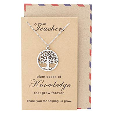 Teacher retirement gifts Tree of Life Necklace