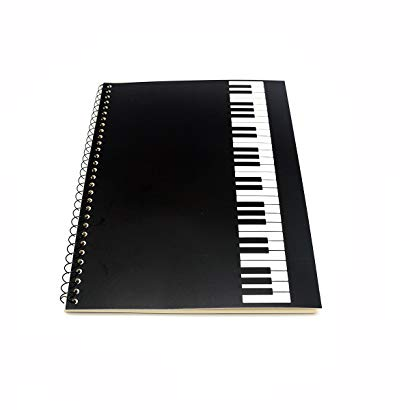 Gift Ideas For Piano Recital Blank Music Sheet Notebook