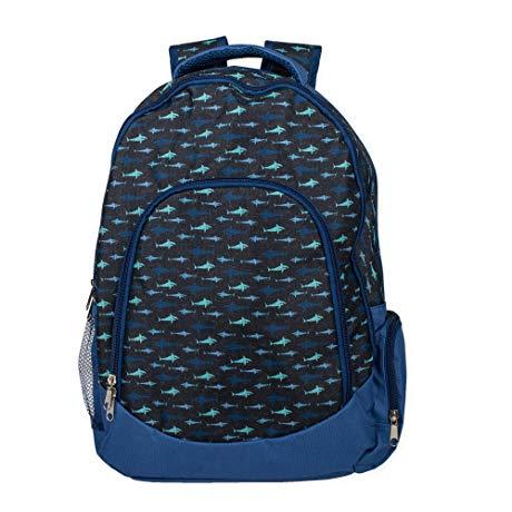 Shark Ocean Blue Backpack gift for kids