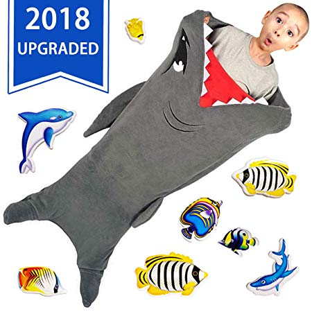 Little ones love sharks gift that make them happy Shark Tails Blanket by CozyBomB for Kids