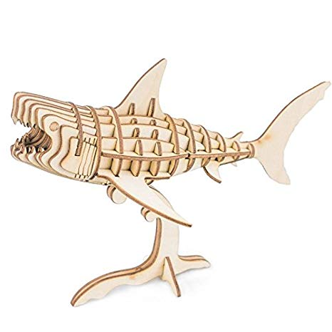 shark gifts for young's 3D Wooden Shark Model