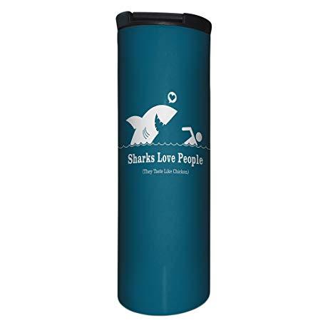 Shark related Christmas gifts Travel Coffee Mug with shark design