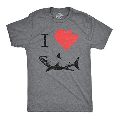 shark enthusiast gifts I Love Sharks T Shirt
