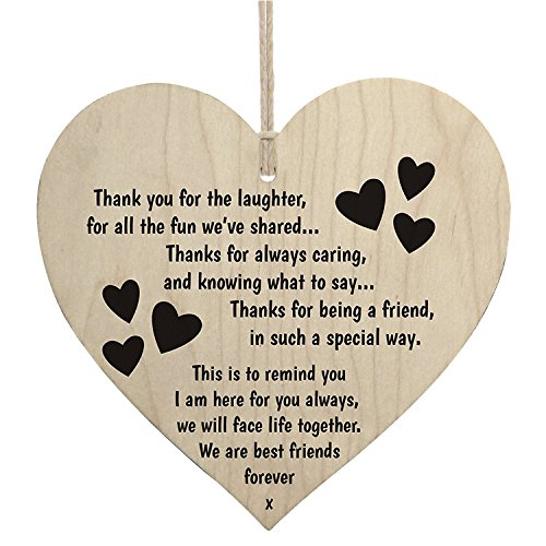 Best Friends Forever Wooden Hanging Heart