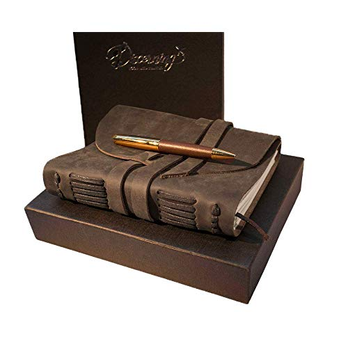 Gifts for English Teachers 21 - LEATHER JOURNAL GIFT SET