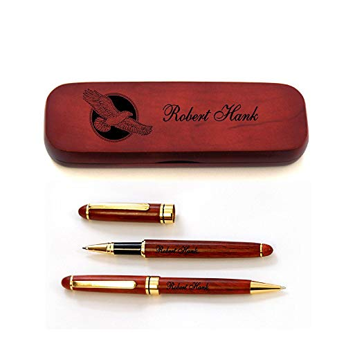 Gifts for English Teachers 7 - Personalized Rosewood Case and Two Pens