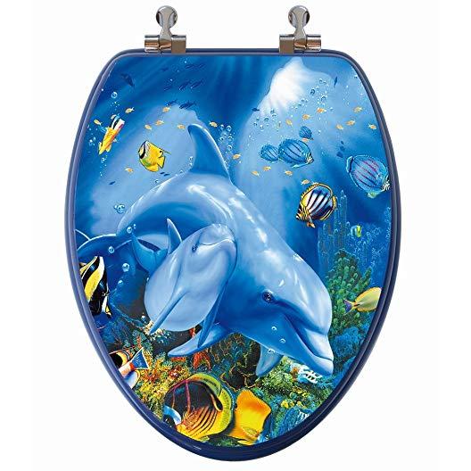 dolphin gift ideas ocean theme toilet seat
