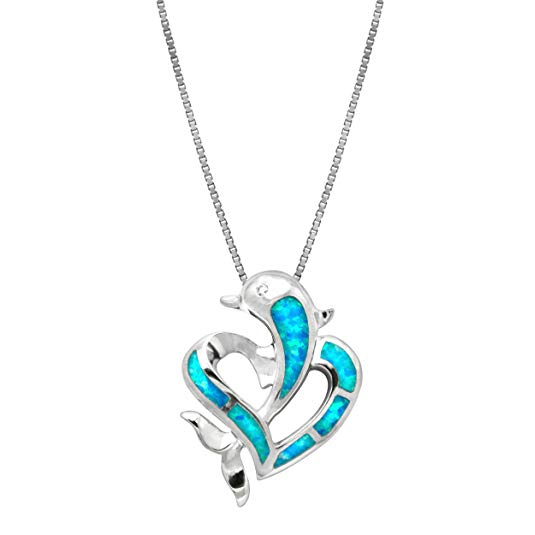 dolphin gift ideas Dolphin Heart Necklace