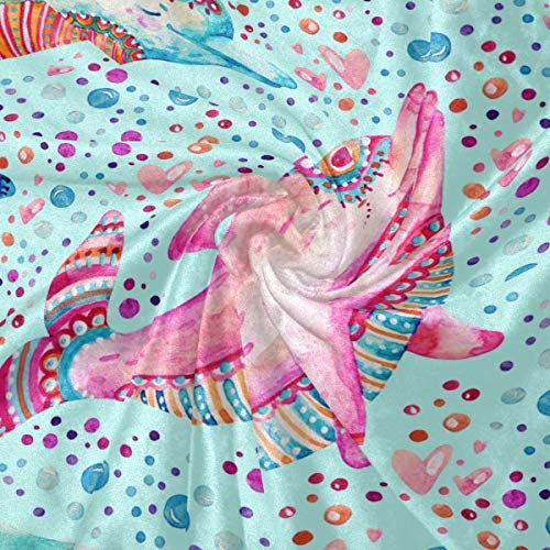 dolphin gifts for kids Cooper Girl Cute Dolphin Throw Blanket