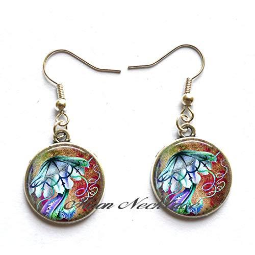Jellyfish Earrings Marine Biologist Gift