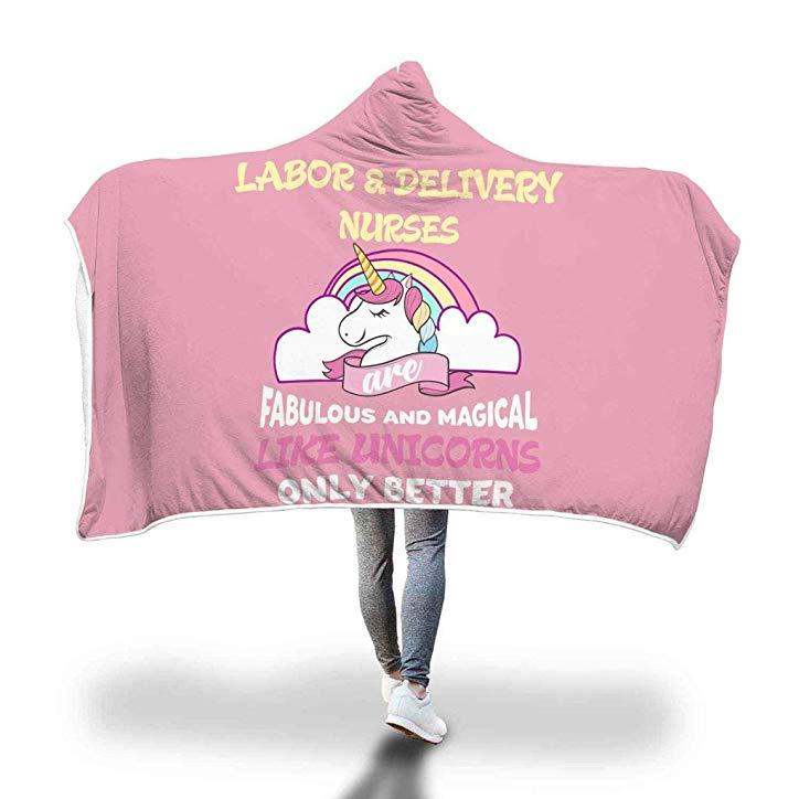 Labor & Delivery Nurse Appreciation Sherpa Wrap Throw