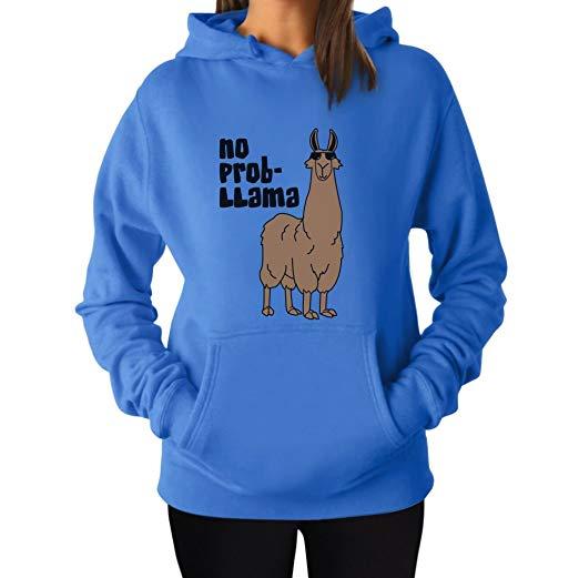 Llama gifts  Women's - No Prob Llama Hoodie