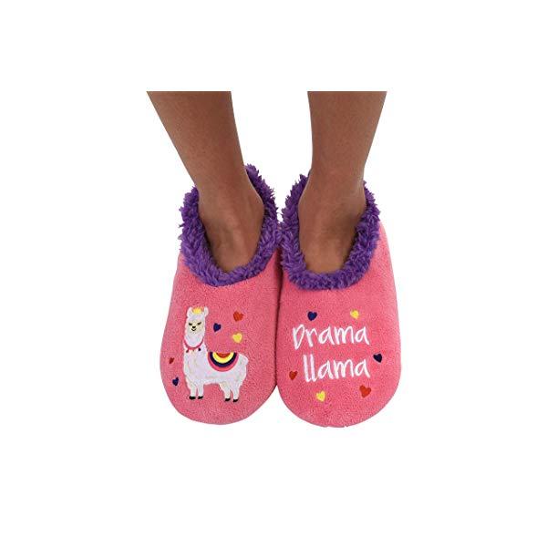 Llama gifts Drama Llama Slipper socks