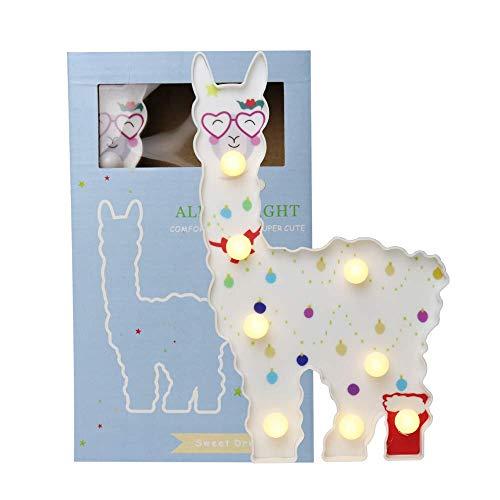 Llama gifts LED Painted Llama Night Light