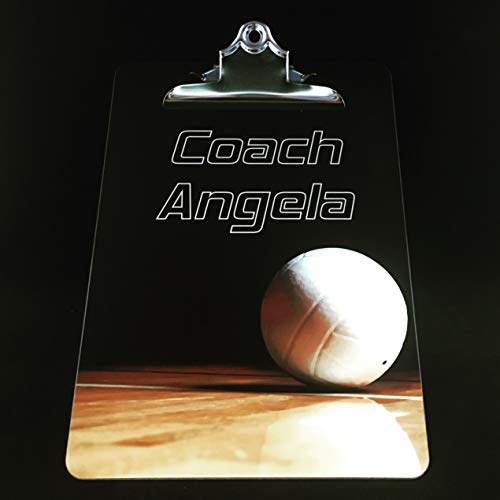 Personalized Volleyball Coach Gift Custom Clipboard