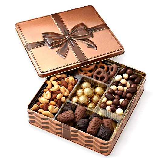 Welcome to the new neighborhood gift 19. Chocolate and Nuts Gourmet Welcome Gift Basket