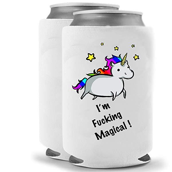 Funny Unicorn Gifts Beer Beverage Holder