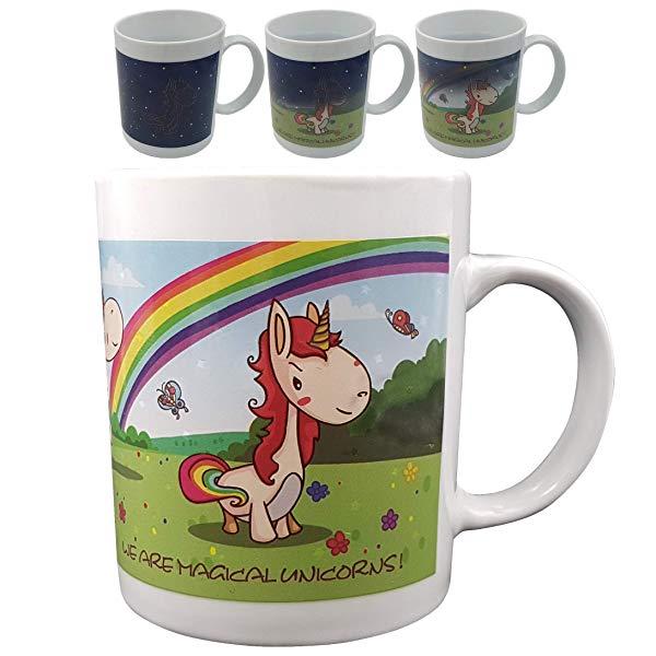 Funny Unicorn Gifts Color Changing, Heat Sensitive Mug