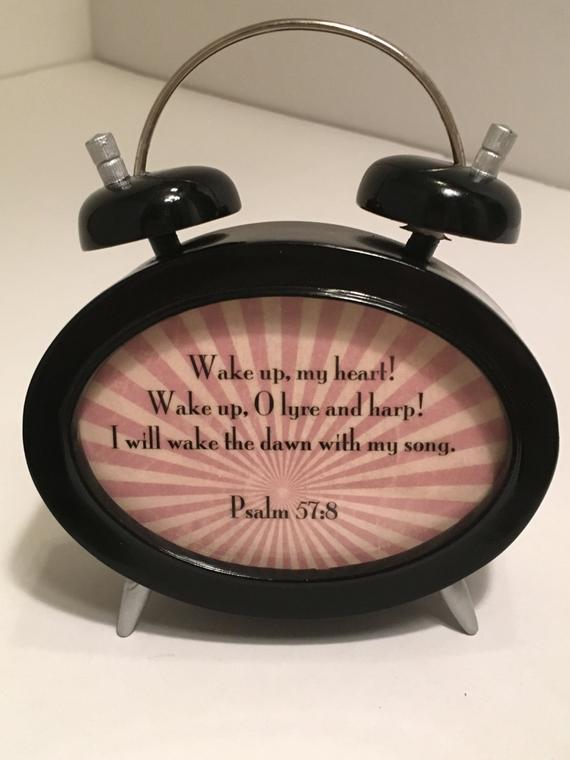 Gifts for Sunday School Teacher - Frame vintage alarm clock Wake up, my heart