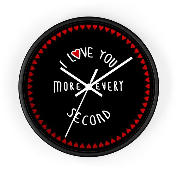 One Year Anniversary Gifts for Girlfriend Wall Clock