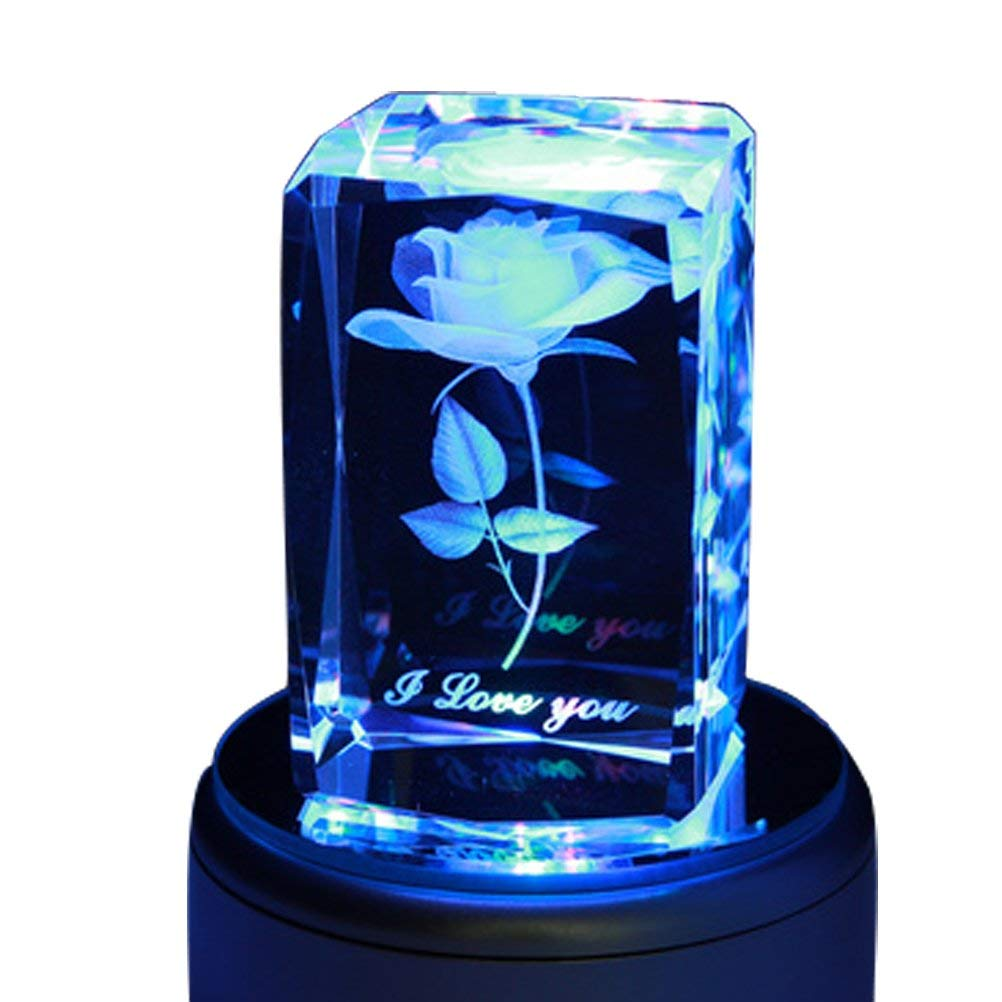 One Year Anniversary Gifts for Girlfriend Crystal Music Box