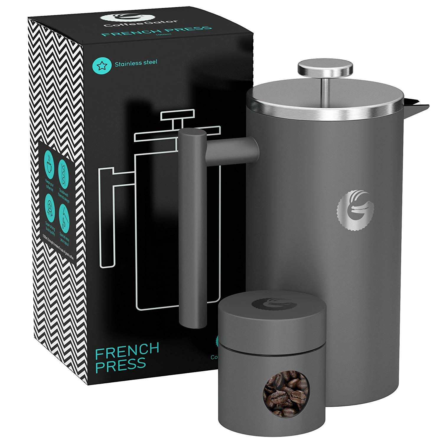 One Year Anniversary Gifts for Girlfriend Large French Press Coffee Maker
