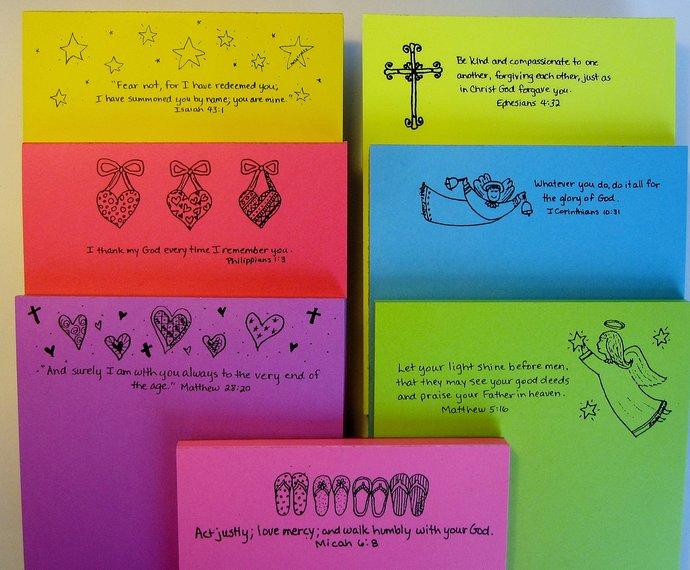 Gifts for Sunday school teachers or CCD teachers Scripture Notepads Bible Verses Christian
