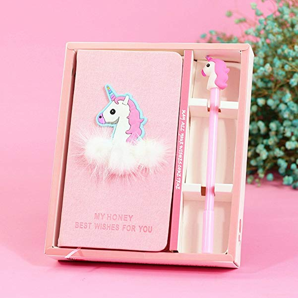 Unicorn Birthday Gifts Unicorn Journal Gel Pens Set -Lovely Birthday Gifts for Girls of All Ages