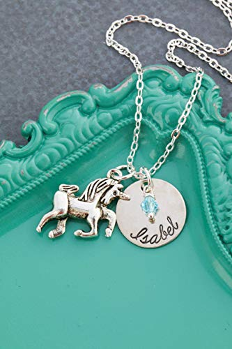 Unicorn Birthday Gifts Personalized Necklace