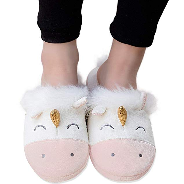 Unicorn Gift Ideas for Adults Unicorn themed Slippers