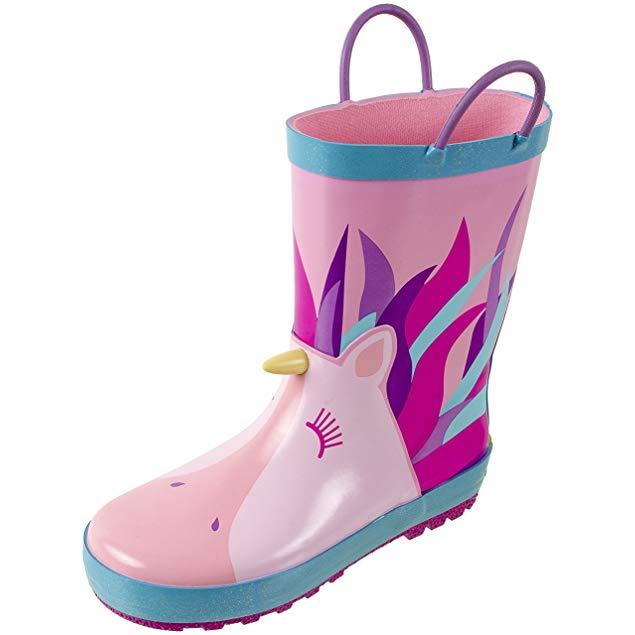 Unicorn gifts for girls Rainbow Daze Rain Boots