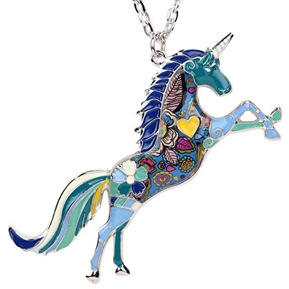 Unicorn gifts for girls Necklace
