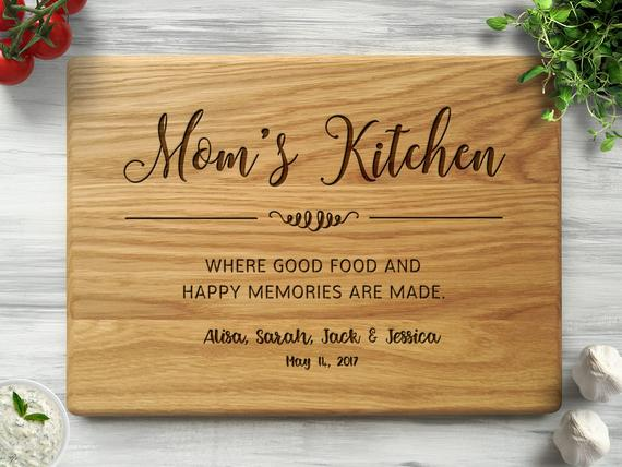 Gift for Mom Personalized Cutting Board