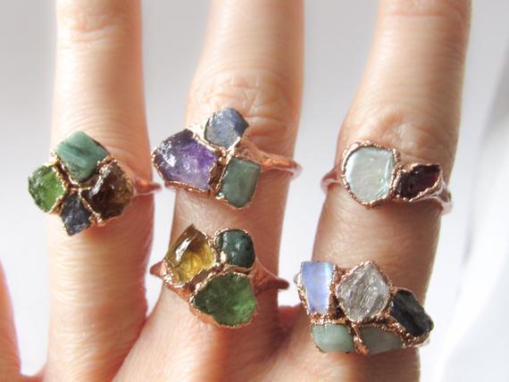 birthday gifts for 50 year old mom Custom Birthstone Ring