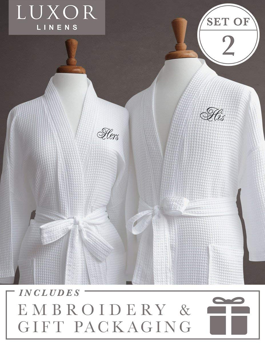 4 years anniversary gift ideas for couples His and Hers Bathrobes Sets